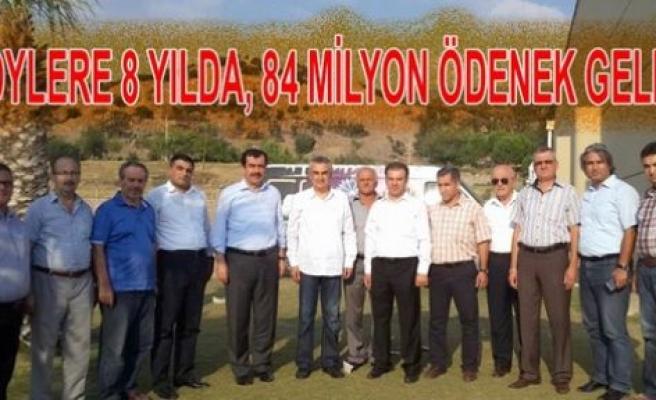 Köylere 84 Milyon Liralık yatırım