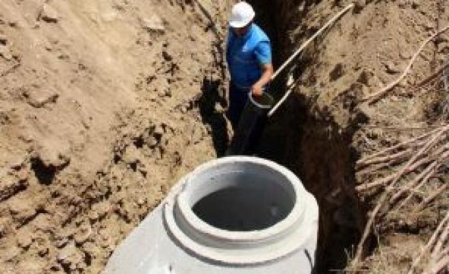Sultanhisar'da alt yapı çalışmaları devam ediyor