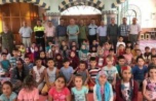 Karpuzlu'da, Yaz Kur'an Kurslarında Trafik Eğitimi