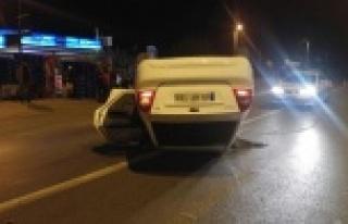 Çine'de Otomobil Takla Attı
