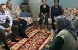 CHP Çine Teşkilatı Şehit Ailelerini Ziyaret Etti