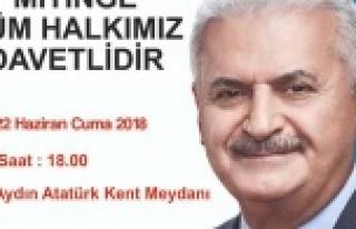 AK Parti İlçe Başkanı Tosun Çinelileri Mitinge...