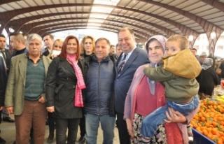 Başkan Çerçioğlu Çine Pazarı'nı Ziyaret...