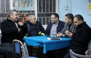 Aydın Büyükşehir Belediyesi Çine'de vatandaşlarla...