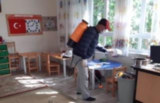 Çine'de Okullar Dezenfekte Ediliyor