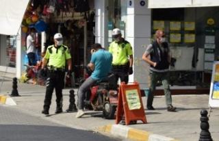 Çine'de, Polisten Maske Denetimi
