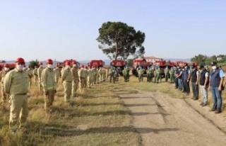 Orman yangın ekiplerine iş başı eğitimi verildi