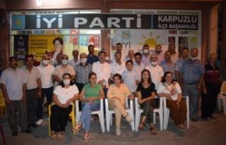 İYİ Parti İl Başkanı Demirci, Karpuzlu Teşkilatını...