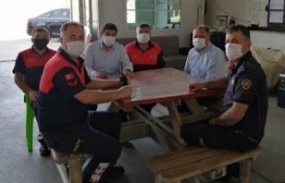 Çine Belediye Başkanı Dinçer, İtfaiyeciler Haftası...