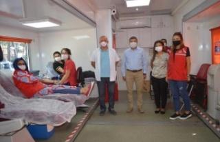 Çine'de Kan Bağışına Destek