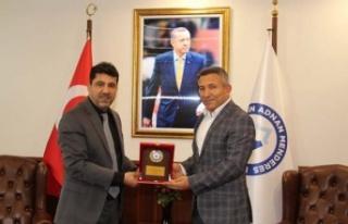 İş Adamı Mehmet Emin Dinç Rektörü Ziyaret Etti