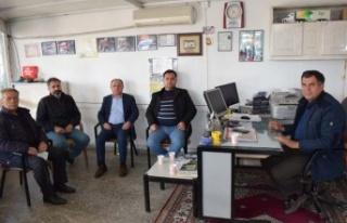 MHP İlçe Teşkilatı Nizamettin Kurt'u ziyaret...