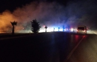 Aydın Muğla Karayolu'ndaki yangın korkuttu