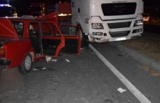Çine'de; ters yönde ilerleyen araç faciaya sebep...