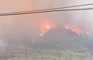 Akçaova yangınında 4 mahalle tehdit altında