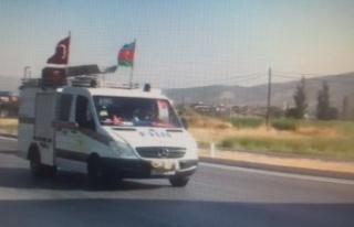Azerbaycan'dan yangınlara destek araç konvoyu...