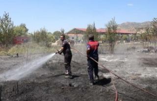 Büyükşehir İtfaiyesi İmamköy'de Çıkan Yangını...