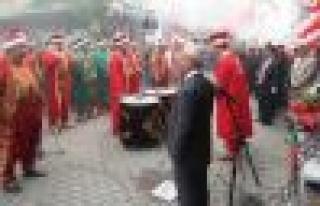 MHP Çine Seçim Bürosu, mehteranla açıldı