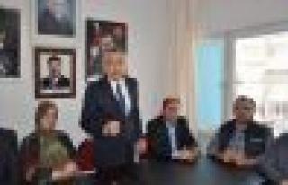 Mustafa Savaş İlçe Teşkilatını ziyaret etti