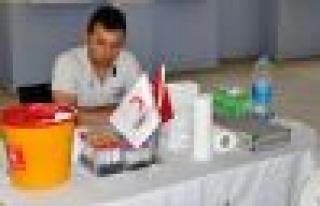 Sanayi Sitesi Esnafı kan bağışladı