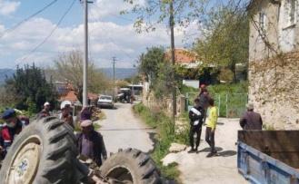 Karpuzlu'da traktör devrildi: 1 ölü, 1 yaralı