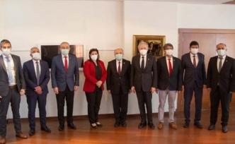 İYİ Parti heyeti Başkan Çerçioğlu ile görüştü