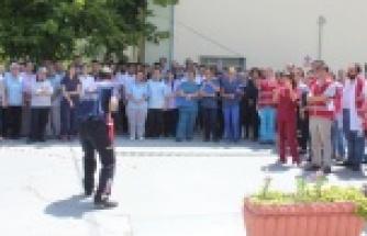 Çine Devlet Hastanesinde HAP ve Saha Tatbikatı Gerçekleşti