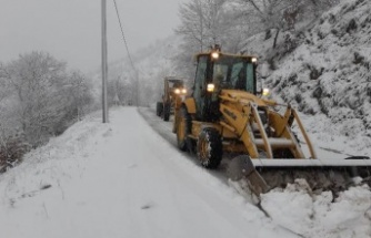 Çine'de Kar Yağışı Sonrası Kapanan Yollar Açıldı