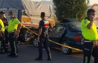 Çine'de Kaza: 1 Yaralı, 1 Ölü