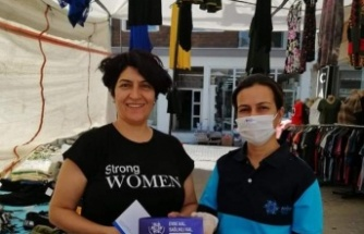 Çine'de Büyükşehir Belediyesi Esnafı ve Vatandaşı Maskesiz Bırakmıyor