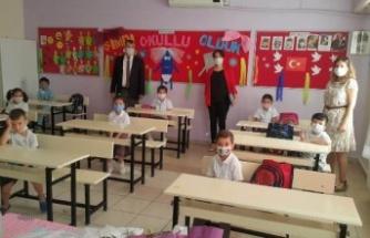 Çine'de, 962 öğrenci yüz yüze eğitime başladı