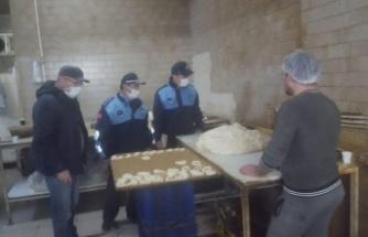 Ekmek ve simit imalathaneleri denetlendi