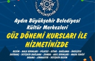 Aydın Büyükşehir Belediyesi'nin Güz Dönemi Kursları Başlıyor