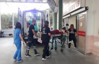 Çine'de kaza ; 2 kişi yaralı