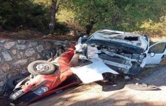 Çine'de trafik kazası: 2 yaralı, 1 ölü