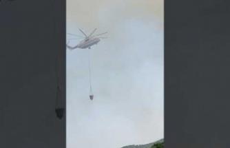 Karpuzlu orman yangınına helikopterlerle müdahale edilıyor