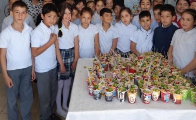 Atatürk İlkokulu'ndan, 'Meyve Salatası Günü'