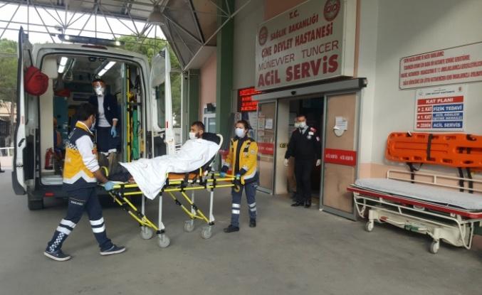 Çine'de sırtına saçma isabet eden motosiklet sürücüsü yaralandı
