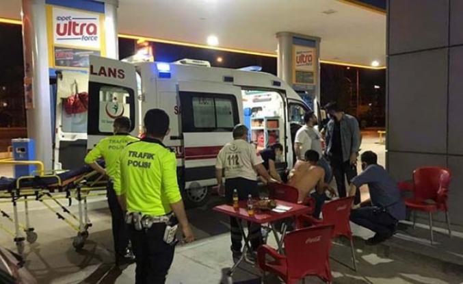 Çine'de bıçaklanan genç benzin istasyonuna sığındı