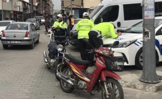 Çine'de narkotik ve motosiklet uygulaması