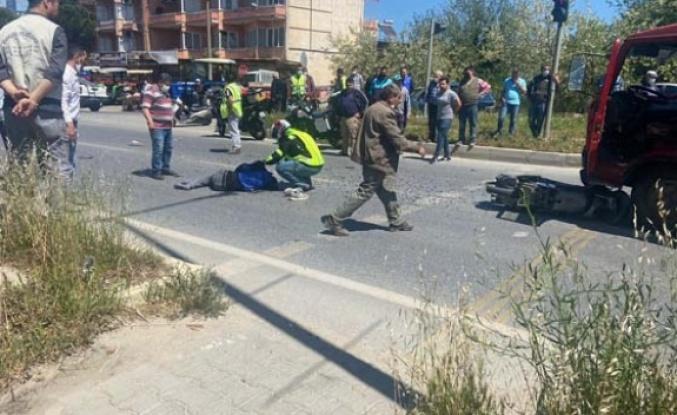 Trafik kazasında yaralanan motosiklet sürücüsü hastanede hayatını kaybetti
