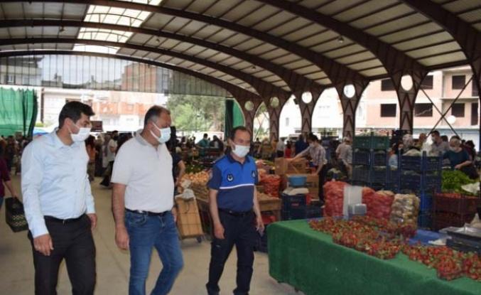 Çine pazar yerinde sıkı denetim yapıldı
